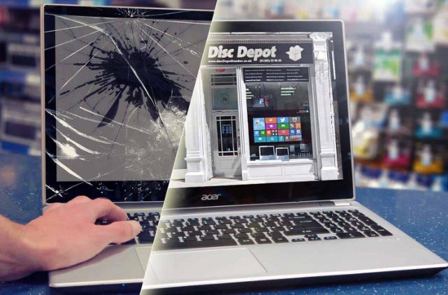 repair cracked laptop screen
