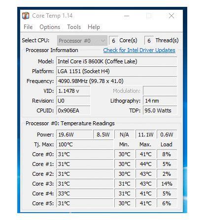 Core Temp RAM stress test