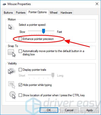 Mouse DPI settings