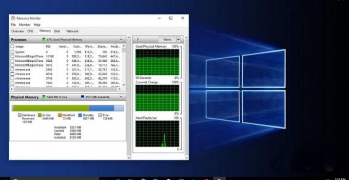 memory leak solution in window 10