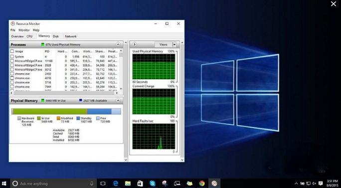 memory leak solution in window 10
