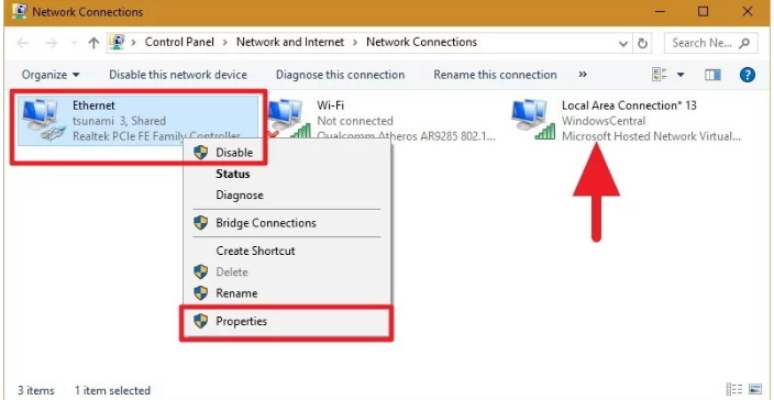 step 1 how to share internet from laptop windows 10