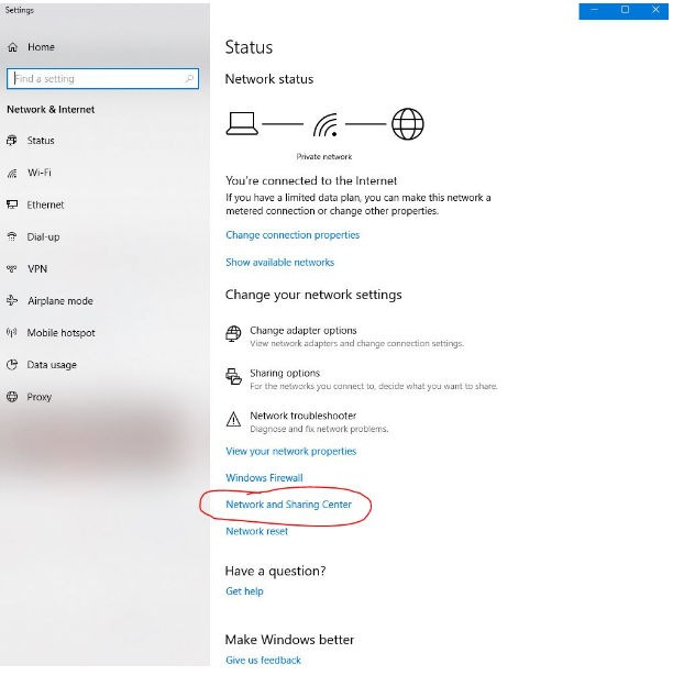 step 2 how to share internet from laptop to desktop windows 10
