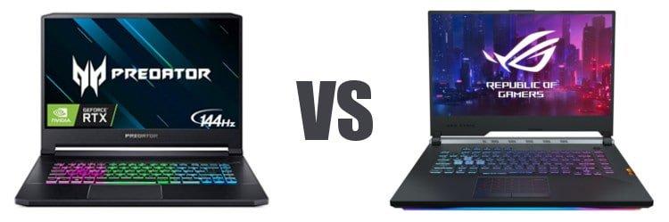 Acer vs ASUSGadgetScane
